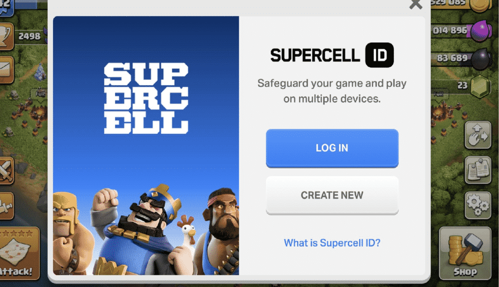 Crear Supercell ID